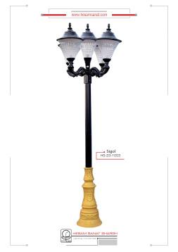 پایه چراغ پارکی کلاسیک مدل سی گل